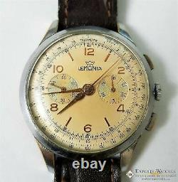 1950 Serviced Vintage Officers Lemania Chronograph Cal 1270 (320 / 321) Montre