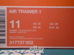2007 Nike Air Trainer 1 Tech Pack Granit Gris Noir Or Feuille Rose Jaune Ds 11