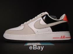 2008 Nike Air Force 1 Low Premium Max 90 Blanc Froid Gris Noir Infrarouge Rose 11