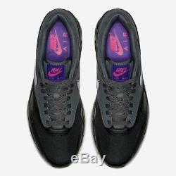 2018 Nike Air Max 1 Sz 9.5 Noir Gris Violet Pink Ar1249-002