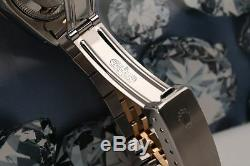 26mm Rolex Datejust Nacre Blanche Diamond Dial Lunette Cannelée 2 Tone