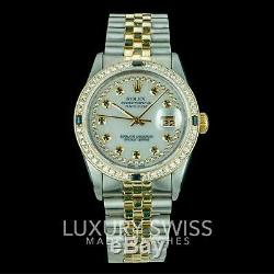 36mm Rolex Datejust Montre Homme Two-tone Diamond & Saphir Cadran / Biseau