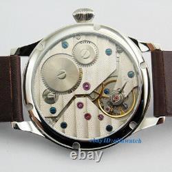 44mm Parnis Seagull St36 Mécanical Hand Winding Hommes 6497 Montre Cadran Noir