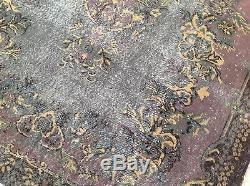 9'10 X 5'11 Fané Vintage Tapis Gris Tapis Noir