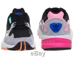 Adidas Falcon Chunky Black Light Granite Gris Rose Femmes Baskets Bb9173