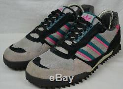 Adidas Marathon Hommes Tr Formateurs Taille Uk 11 Gris Noir Rose Vert 464085