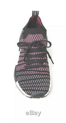 Adidas Nmd R1 Stlt Pk Primeknit Cq2386 Noir Gris Solar Pink Homme Sz 10