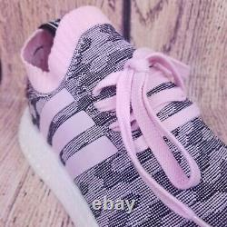 Adidas Nmd R2 Primeknit Femmes Chaussures Taille 8.5 Pink Gray Black White Boost By9521