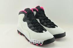 Air Jordan 10 Retro Gs Taille 9.5y 487211-008 VIVID Rose Gris Noir Gris X Bg