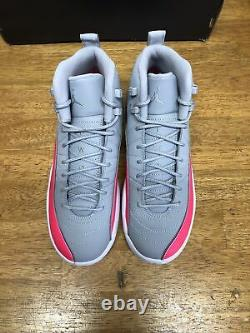 Air Jordan 12 Rétro (gs) Wolf Grey / Racer Pink -black 510815 060 Sz 7y B-grade