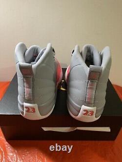 Air Jordan 12 Retro (gs) Wolf Grey / Racer Pink -noir 510815 060 Sz 7y