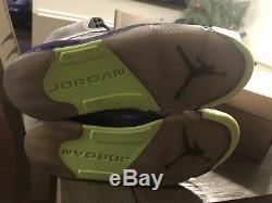 Air Jordan Retro 5 Bel-air Taille 8.5 (621958-090) Gris Violet Vert Rose Noir