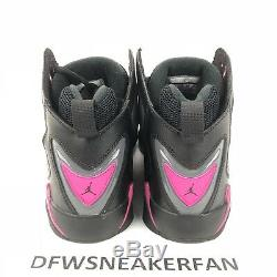 Air Jordan True Flight VII Taille 8.5y = Femmes 10 Noir Gris Rose 342774-009
