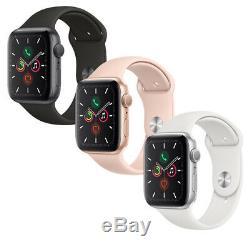 Apple Montre Série 5, Espace Gris Bande Noire D'or Rose Silver Band White Band