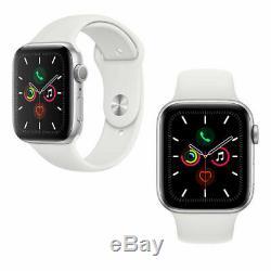 Apple Montre Série 5 Gps Or / Gris / Argent 40mm / 44mm Rose / Noir / Blanc Sport Band