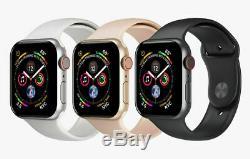 Apple Suivre Series 4 40mm 44mm Gps + Cellulaire 4g Lte Or Gris Sidéral Argent