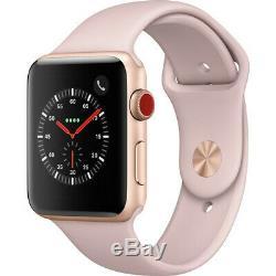 Apple Watch Series 3 38 Montre Intelligente Avec Boîtier En Aluminium En Acier Inoxydable Gps Ou 4g De 42 MM