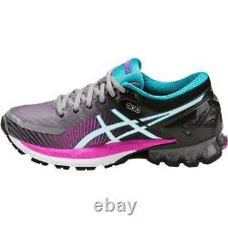 Asics Femmes Gel Kinsei 6 Black Pink Grey Neutral Running Shoes Taille T694n-9601