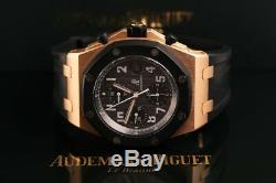 Audemars Piguet Royal Oak Offshore Chronographe 42 MM En Or Rose Avec Bracelet En Caoutchouc