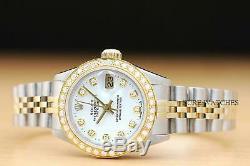 Authentique Montre Rolex Quickset Deux Tons En Or Jaune 18 Carats Et Acier