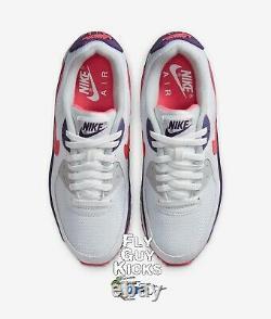 Authentique Nike Air Max 90 Aubergine White Flare Rose Rouge Gris Noir Cw1360-100