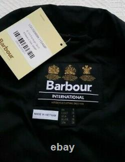 Barbour International Farleigh Quilted Jacket-black, Grey, Pink Size Us4 Pdsf219 $