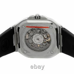 Bell & Ross Br 05 Grey Steel Mens Automatic Strap Watch Br05a-gr-st/srb