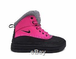 Bottes Woodside 2 High Gs Nike Big Pour Enfant, Rose Feuille / Noir / Gris Froid 524876-600 A1