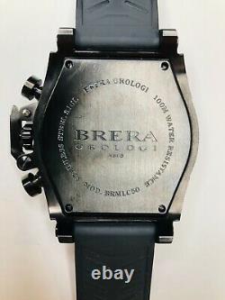 Brera Orologi Militare Black Mens Watch Brmlc50 (authentique) Excellent État