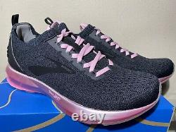Brooks Levitate 2 Le Taille 8.5 Nouvelles Chaussures De Course Pour Femmes Noir/gris/rose