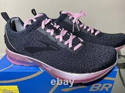Brooks Levitate 2 Le Taille 9.5 Nouvelles Chaussures De Course Pour Femmes Noir/gris/rose