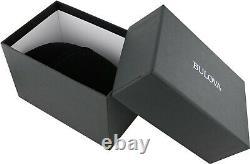 Bulova Classic Hommes Quartz Rose Accents Or Montre En Cuir Noir 40mm 98a167
