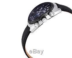 Bulova Curv Chronographe À Quartz Noir Pour Homme Avec Bracelet En Cuir De 43mm Montre 98a155