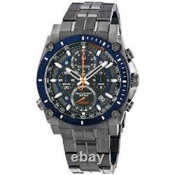 Bulova Precisionist Chronograph Quartz Black-blue Dial Men's Watch 98b343