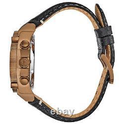 Bulova Precisionist Men's Quartz Chronograph Bronze Ip Case 46mm Montre 97b188