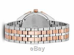 Bulova Rose Quartz Chronographe Hommes Curv Ton Or De 43mm Montre 98a160