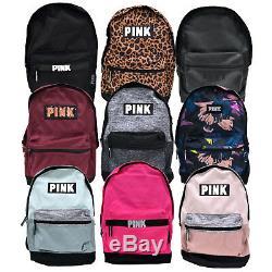 Campus Rose Victoria Secret Sac À Dos School Bookbag Sac Zip Poches Vs New Nwt
