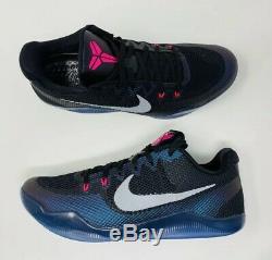 Cape Nike Kobe XI 11 Invisibility Noir Gris Rose Rose Flash 836183-005 Pour Homme Sz 13