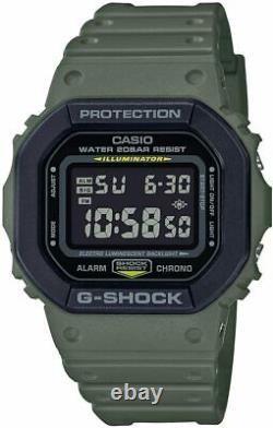 Casio G-shock Dw5610su-3 Army Green & Black Resin Strap Digital Men's Watch