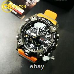 Casio G-shock Gg-b100-1a9 Mudmaster X Senseur De Carbone Senseur Orange X Black