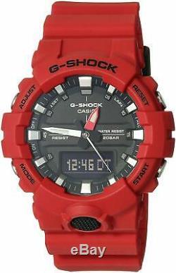 Casio G-shock Rouge Analogique-numérique Montre Ga800-4a Hommes