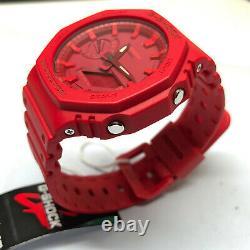 Casio G-shock Rouge Casioak 2100 Série Ga-2100-4a Montres Nouveau Ga2100 Carbon Core
