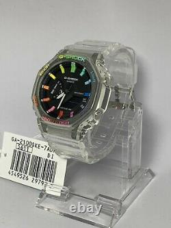 Casio G-shock Watch Ga-2100ske Casioak Rainbow Edition Ga2100 Livraison Gratuite