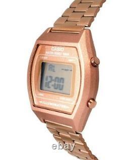 Casio Retro Digital Bronze Acier Inoxydable B640wc-5a Wr 50m Neuf