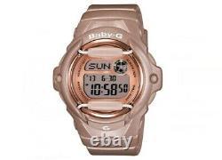 Casio Women's Watch Baby-g World Timer Bracelet En Résine Rose Cadran Numérique Bg169g-4