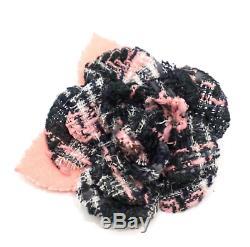 Chanel Authentic Designer - Broche En Forme De Fleur De Camélia, Noir, Gris Et Tweed