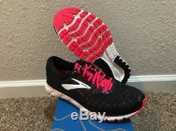 Chaussures De Course Brooks Glycerin 16 Pour Femmes, Taille 9.5, Neuves, Dans Une Boîte, Noir / Rose / Gris