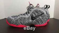 Chaussures Hommes Nike Air Foamposite Pro Elephant Print, Gris / Noir-rose Vif Us 11