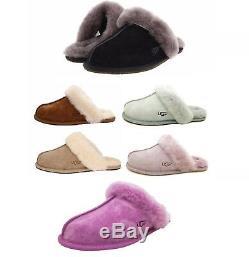 Chaussures Pour Femmes Ugg Scuffette II Pantoufles Châtain Noir Sable Gris Rose Espresso