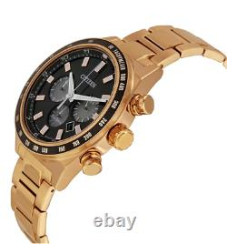 Citizen Eco-drive Chronographe Homme Rose-gold Tone Band 42mm Montre Ca4203-54f